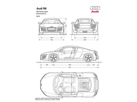Audi R8 Dimensions by 2007 Audi R8 Dimensions 1280x960 Wallpaper
