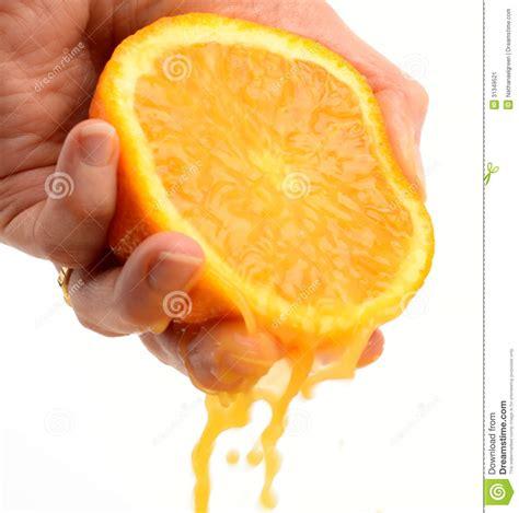 921 Light Bulb Squeezing Orange Stock Image Image 31349521