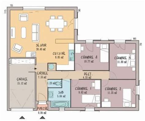 best 20 plan maison 3 chambres ideas on plans