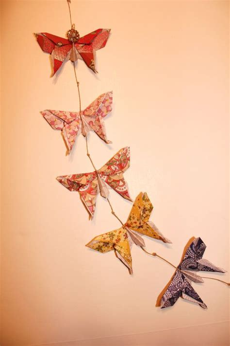 Origami Butterfly Wall - origami butterflies wall hanging