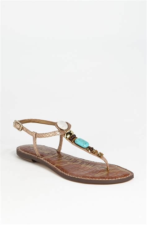 sam edelman gold sandals sam edelman glenna sandal in multicolor gold lyst