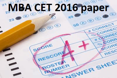 Mba Syllabus 2016 by Mba Cet 2016 Question Paper Pdf Mba Cet Dte Cetking