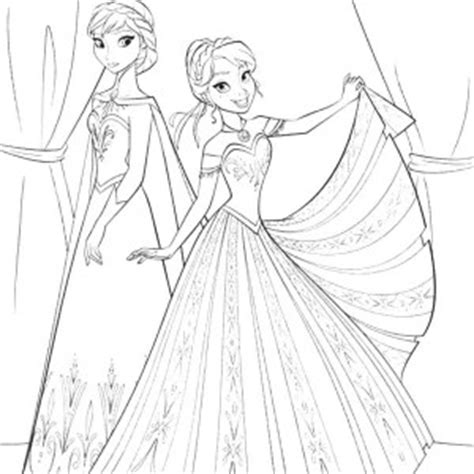 queen elsa and princess anna coloring pages princess anna colouring pages