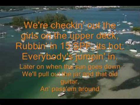 yacht club lyrics redneck yacht club craig morgan lyrics youtube