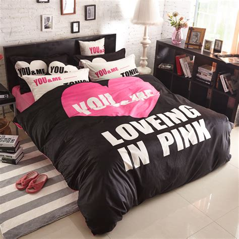 Black And Pink Bed Sets Black Pink Bedding Promotion Shop For Promotional Black Pink Bedding On Aliexpress