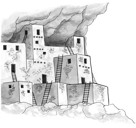 pueblo house coloring page jennifer k keller illustrations june 2012
