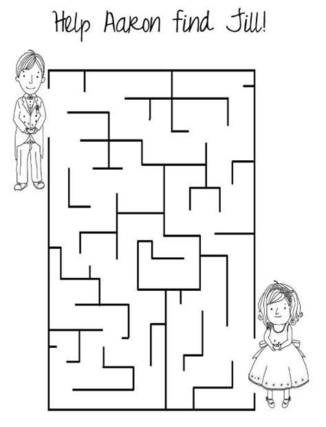 printable wedding maze 89 best kid s wedding activity books images on pinterest