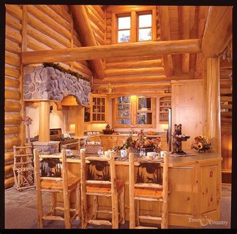 log cabin interiors photo gallery michigan cedar log home kitchen from white cedar interiors of log