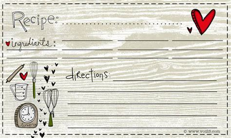 free recipe card template 8 free recipe card templates excel pdf formats