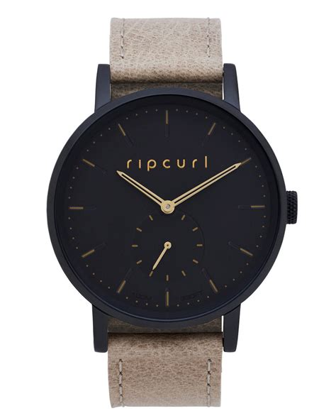 Ripcurl Paket Brown Gold circa midnight leather womens style surf watches rip curl