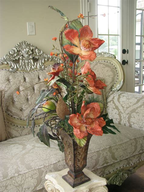 silk flower arrangements for dining room table sale 40 off silk flower arrangement orange by