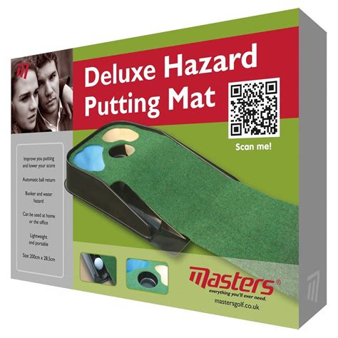phil kenyon putting mat masters deluxe practice putting mat with hazards