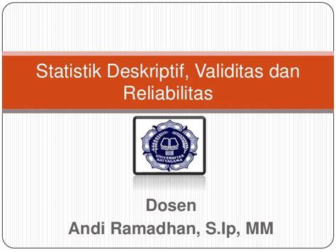 Reliabilitas Dan Validilitas reliabilitas dan validitas