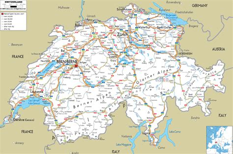 switzerland map in world map maps of switzerland map library maps of the world