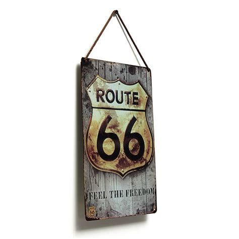 other home decor route 66 tin sign retro vintage metal