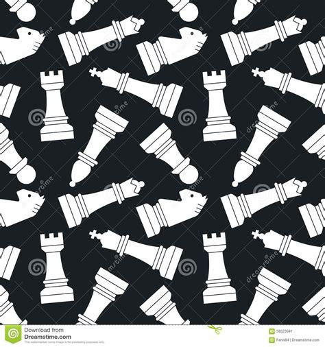 design pattern for chess game chessmen seamless vector pattern stock vector image