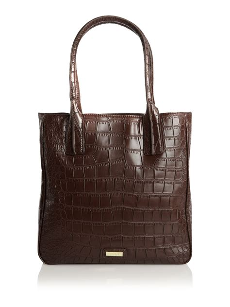 Lizzy Tote by Linea Croc Lizzie Tote Bag In Brown Chocolate Lyst