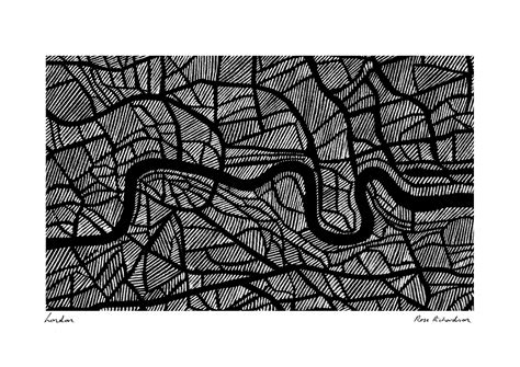 river thames map poster the river thames london sketch by rose richardson map art
