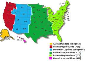 us timezone map quiz map of u s time zones