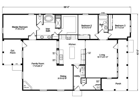 4 Schlafzimmer Home Floor Pläne by The La 4v68f81 Floor Plan Manufactured And Or