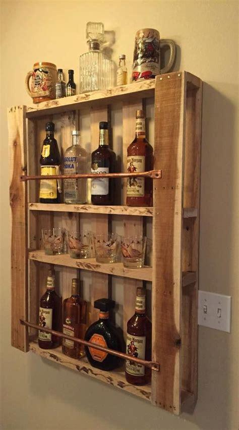 rustic pallet furniture wood wall shelf liquor door