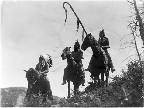 three s edward s curtis travels on horseback