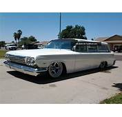 1962 Chevrolet Biscayne Wagon Air Bagged Shaved Door