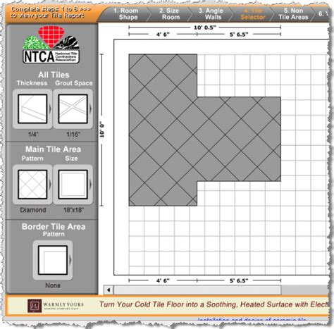 Bathroom Tile Pattern Design Tool Bathroom Tiles Tile Estimator Tool Makes Tiling Easy