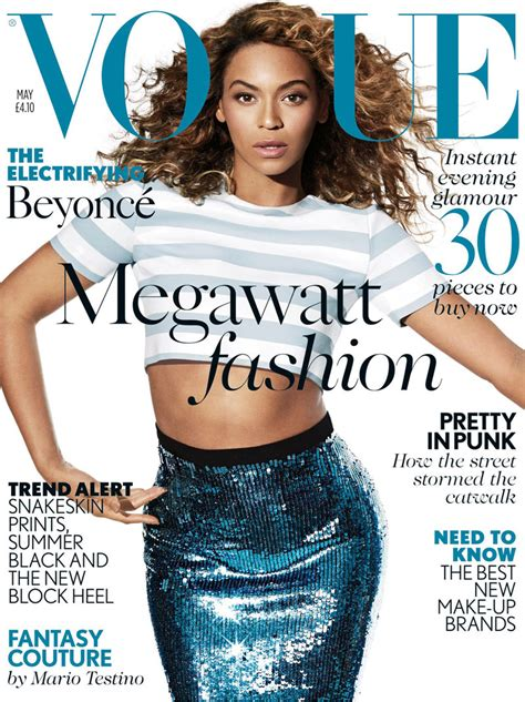 Beyonce On The Cover Of by Beyonce Shines For Vogue Uk S May 2013 Cover