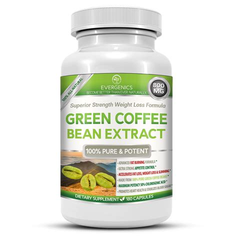 Green Coffee evergenics green coffee bean extract weight loss formula