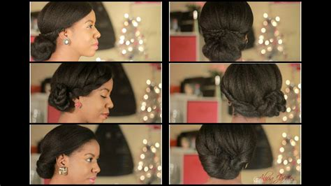simple elegant natural hairstyles holiday hair youtube