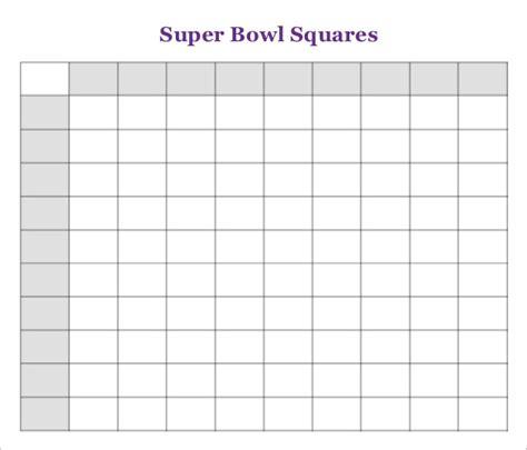 super bowl squares template free premium templates