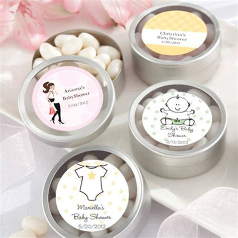 personalized candies for baby shower personalized baby shower clear topped tins