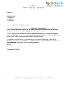sample letter asking for donations