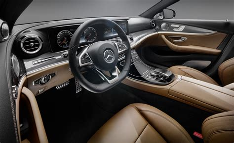 mercedes benz upholstery 2017 mercedes benz e class interior revealed all glass