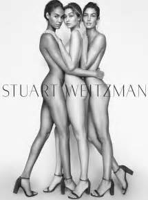 gigi hadid lily aldridge and joan smalls pose nude for stuart