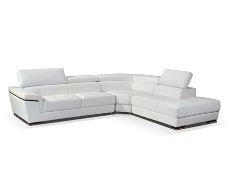 modern white leather ottoman modern white leather sectional sofa ef383 leather sectionals