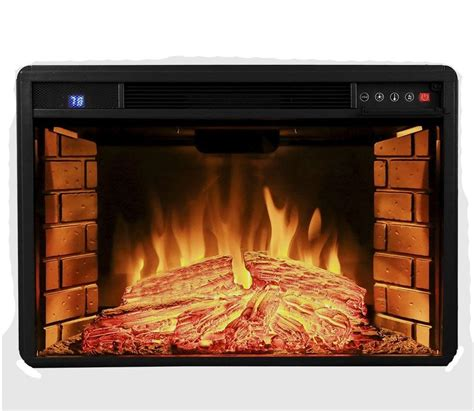 3d fireplace 28 quot insert free standing electric logs