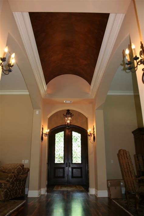 foyer mural foyer barrel ceiling metalic faux finish mural idea by