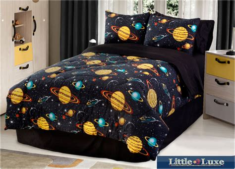 Kids Comforter Sets With Galaxy Glow In The Dark Motif Next Childrens Bedding Sets