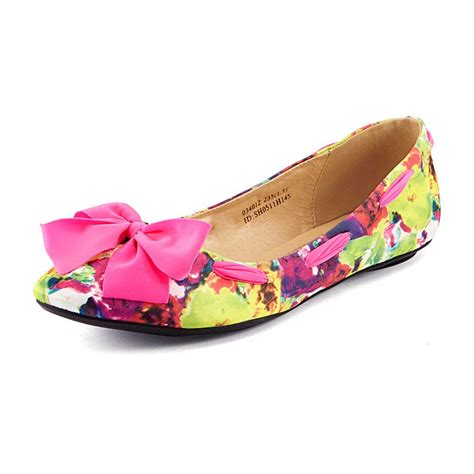 coloured flat shoes vancl colorful mottled flat shoes coral sku 169590