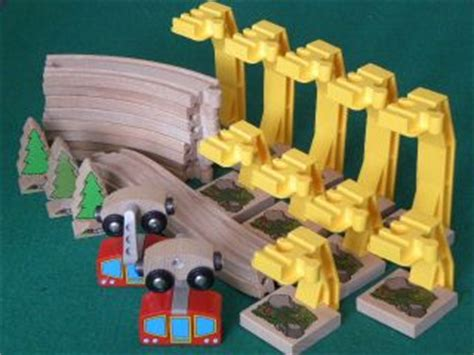 brio skytrain 167pc wooden toy train lot brio tc timber engines vehicles