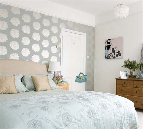 wallpaper in bedroom focusing on one wall in bedroom swedish idea of using