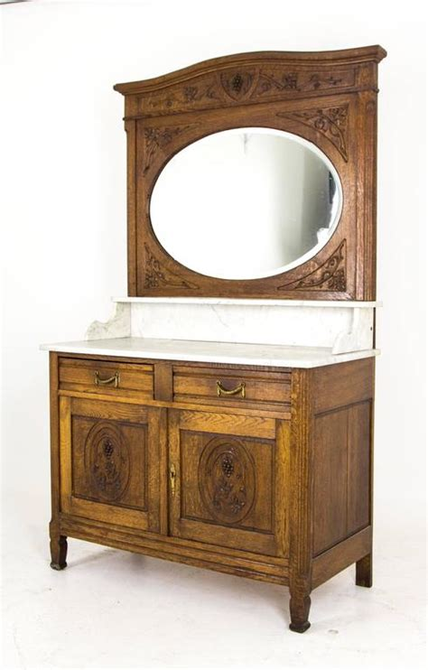 antique french dresser with mirror antique french oak marble top vanity dresser with large