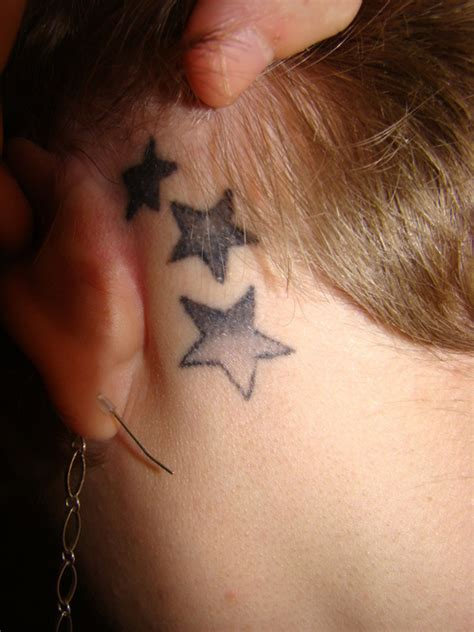 stars behind ears tattoo tattoo pictures collection