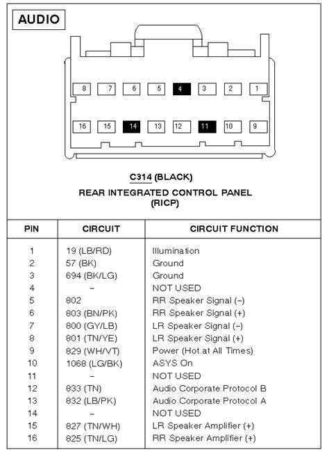 [SS_0153] Radio Wiring Diagram 2005 Ford Escape Free Diagram