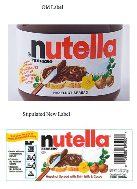 printable nutella label did you buy nutella since 2008 did you think nutella was