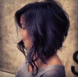 uneven bob for thick hair 10 good curly asymmetrical bob short hairstyles 2016