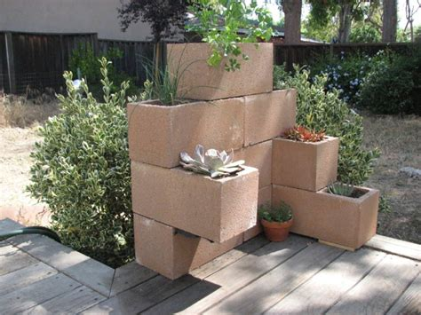 Block Planters by 15 Awesome Planter Box Diy Ideas Pictures