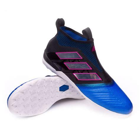 sapatilha de futsal adidas ace 17 purecontrol in black white blue loja de futebol